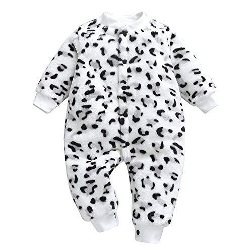Peleles para Dormir recién Nacido bebé niñas niños Dibujos Animados Leopardo impresión Mameluco...