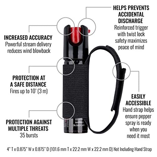 SABRE ADVANCED Pepper Spray for Runners with Adjustable Hand Strap – 3-in-1 Formula (Pepper Spray, CS Tear Gas & UV… 4