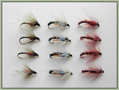 12Wet Angeln Fliegen–Emergers–Micks, Rotwein & TPU 10/12