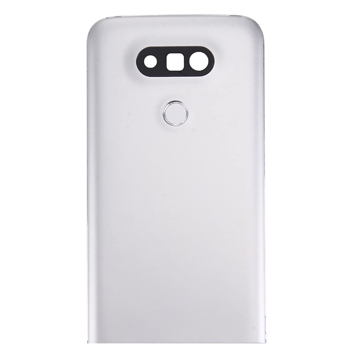 YUNCHAO Mobile Accessories Metal Back Cover with Back Camera Lens & Fingerprint Button for LG G5(Grey) (Color : Silver)