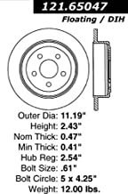 Centric Parts C-Tek Disc Brake Rotor 121.65047
