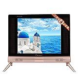 Pokerty Smart TV, TV LCD Plana de Alta definición de 17 Pulgadas RGB Mini televisor portátil HDMI/USB/VGA/TV/AV con Sonido estéreo para el hogar(Enchufe de la UE)