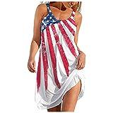 Gerichy Summer Dresses for Women, Womens Sundress Sleeveless Casual Loose Dress Short Mini Beach Party Dress Tank Dress