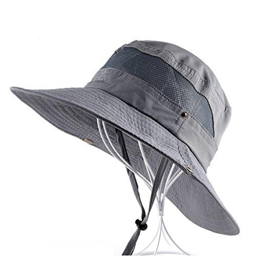 LKXHarleya Cappello da Sole Estivo da Uomo Largo Esternibile da Trekking per Caccia Pesca nel Deserto Berretto