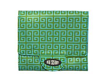 Big Skinny Trixie Key Lime Tri Fold Wallet Green One Size