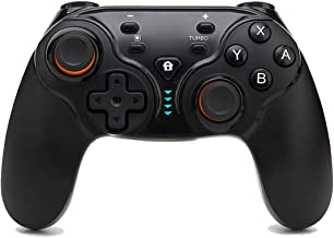 Defway Wireless Controller for Ninetendo Switch, Switch Pro Controller Alternative with Turbo, Gyro Motion Control, Rumble, 10m 6H Bluetooth Gamepad, Ergonomic Rechargeable Joypad for PC Video Games