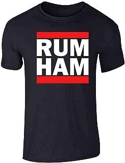 Rum Ham Funny Logo Parody Graphic Tee T-Shirt for Men
