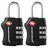 XCSOURCE 2 pcs TSA Security 3 Digit Combination Suitcase Luggage Bag Code Lock Padlock XC303