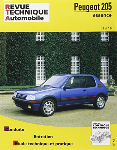 E.T.A.I - Revue Technique Automobile 707.2 - PEUGEOT 205 - 1983 à 1998 - essence