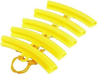 Keenso 5pcs Motorcycle Tire Changer Guard Rim Protector, Car Wheel Hub Wheel Rim Tire Protection Savers Yellow