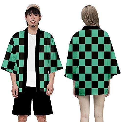 JinYiny Demon Slayer: Kimetsu no Yaiba Custome Kimono Coat Personaje de Anime japonés Kimono Capa Uniforme Camisa Cosplay para Adulto