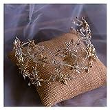 tggh Brautkrone, atemberaubende Braut, weiches Haarband, Kopfschmuck, Kristall, Hochzeit, Tiaras, Brautschmuck, Haar-Accessoire, Geschenk