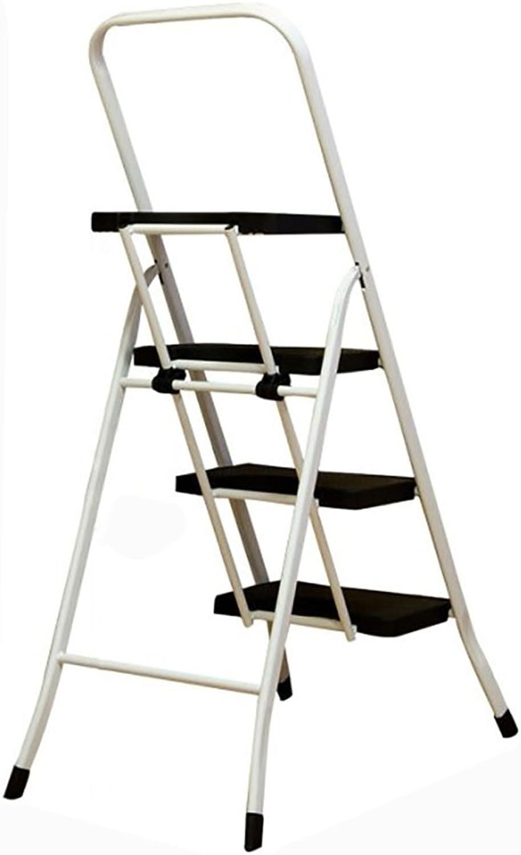 Ladder Stool Four Steps Non-slip 4-Step Folding Household Pavilion Pedals Herringbone Dual Use Indoor (color   Black)