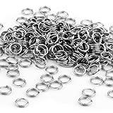 FACILLA 250X anillas de llavero de acero inoxidable...