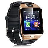 Bluetooth Reloj Inteligente DZ09, Smartwatch Teléfono Inteligente Pulsera con Cámara Pantalla Táctil Compatible con Tarjeta SIM/TF para iOS o Android HTC LG Huawei Sony Xiaomi