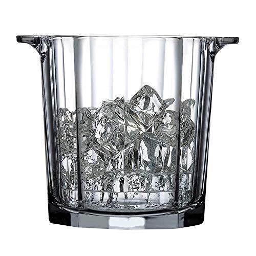 ZHUANYIYI Cubo de Hielo, Cubo de Hielo de Cristal, cucharón de Vino Tinto de Cristal de Cristal, Botella de cucharón de Hielo Transparente para Barra de Casas y Fiestas