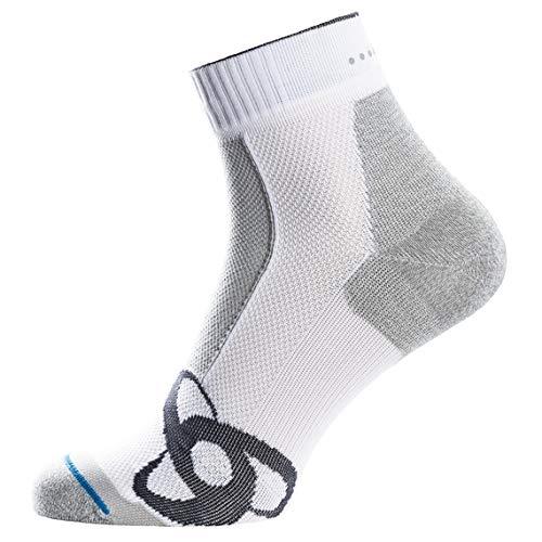Odlo Socks Quarter Light Socks White FR: L (Taille Fabricant: 42-44)