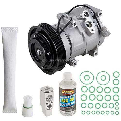AC Compressor & A/C Kit For Honda Odyssey 2005 2006 2007 - Includes Drier Filter, Expansion Valve, PAG Oil & O-Rings - BuyAutoParts 60-80431RK New