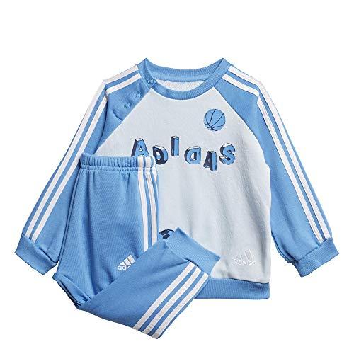 adidas Baby Graphic French Terry Jogging Anzug, Skytin/Lucblu/White, 62