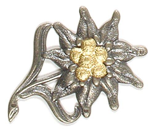 A. Blöchel Bundeswehr & NVA Mützenabzeichen Metallabzeichen Barettabzeichen verschiedene Truppengattungen (Edelweiß)