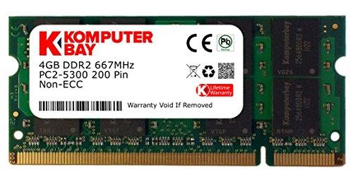 Komputerbay 4GB DDR2 667MHz PC2-5300 PC2-5400 (200 PIN) SODIMM Laptop-Speicher