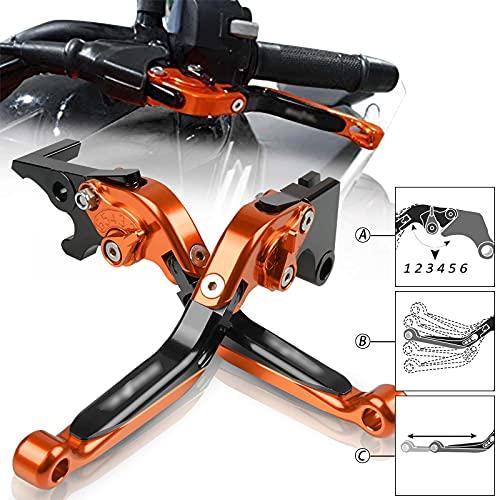 Motorrad Einstellbar Bremskupplungshebel CNC Aluminium für Duke 125 2011-2020 Duke 200 2012-2020 Duke 250 2013-2020 Duke 390 2013-2020-OBOB