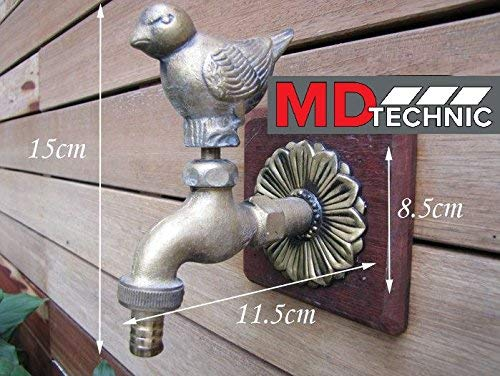 MD technic - Grifo de jardín con diseño de pájaros