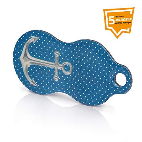 ANKER -Code24 Einkaufswagenlöser- Schlüsselanhänger mit Einkaufschip & Schlüsselfinder, inkl. Registriercode für Schlüsselfundservice, Einkaufswagenchip mit Profiltiefenmesser, Key-Finder
