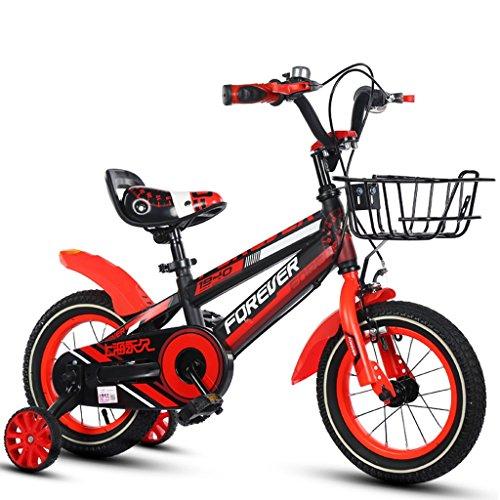 LiuJF-Fitness Equipment Kinderfiets Boy Girl pedaal kinderfiets enkele fiets 2-12 jaar baby met steunwielen 88-121 cm
