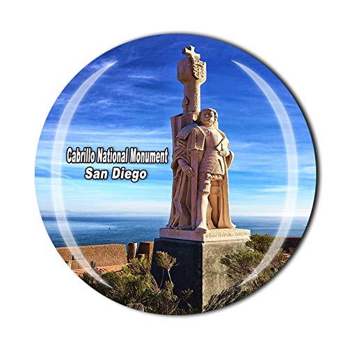Time Traveler Go Imán de nevera 3D de Cabrillo, Monumento Nacional de San Diego, Estados Unidos, regalo de recuerdo para el hogar y la cocina