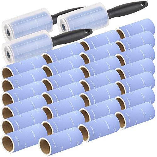 PEARL Katzenhaarentferner: 3x 10er-Set: Fusselrolle mit Griff und 9 Ersatz-Rollen, 600 Blatt (Kleiderroller)