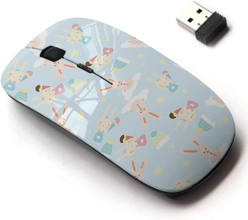 2.4G Wireless Mouse Low price with Cute Pattern and Laptops for Design All Max 80% OFF