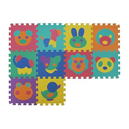 VeloVendo® Alfombra Puzzle Infantiles con Certificado CE & TÜV   Suelo de espuma EVA   Tapete de Juego   Alfombra suave para Bebé   Manta Juegos (Animales)