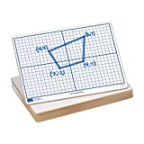 EAI Education X-Y Coordinate Grid Dry-Erase Boards: 9' x 12' Double-Sided Set of 10