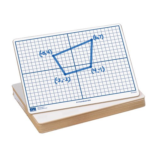 """EAI Education X-Y Coordinate Grid Dry-Erase Boards: 9""""x12"""" Double-Sided Set of 10"""