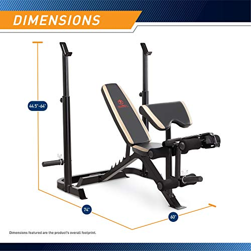 Product Image 2: Marcy Adjustable Olympic Weight Bench with Leg Developer and Squat Rack MD-879