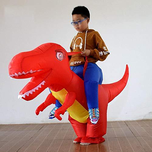 MHSHCQ Disfraz Hinchable Tejido de poliéster,Disfraz de Jinete de Dinosaurio,Accesorios de Disfraces de Fiesta de Cosplay Red- Suitable for Height 140-155 cm