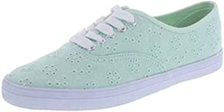 Little Big Girls Eyelet Bal Fabric Sneakers Shoes