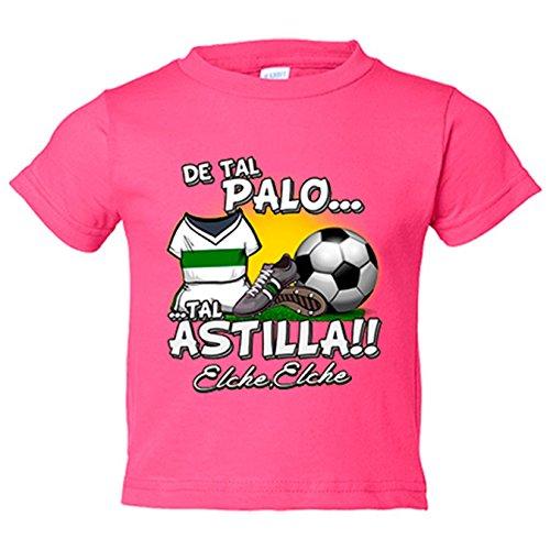 Camiseta niño de tal palo tal astilla Elche fútbol - Rosa, 3-4 años