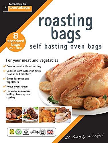 Toastabags estándar Roasting bolsas, transparente, 25x 38cm, paquete de 8-P, plástico, Transparente, 25 x 38 cm/ Pack of 8
