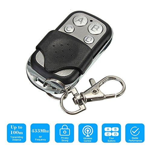 Blusea 433 MHz 4 toetsen kopiëren klonen Duplizer afstandsbediening zender schakelaar voor garage opener elektrische garagedeur afstandsbediening sleutelhanger