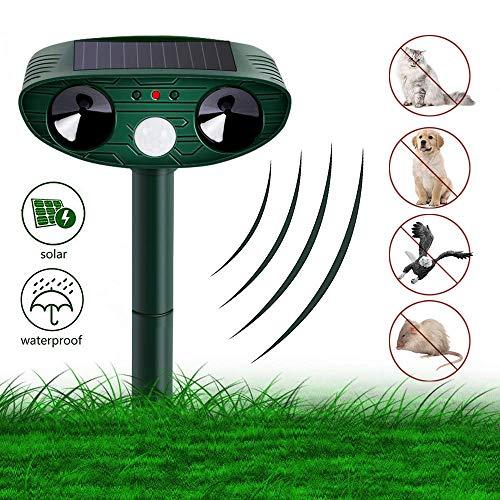 Katzenschreck Ultraschall Solar, Tierabwehr Katzen Vertreiben Abwehr, wasserdichte Vogelschreck Katzenschreck Hundeschreck Marderschreck für Garten