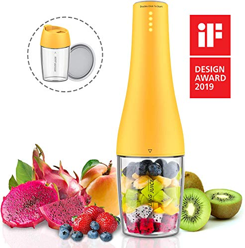 Portable Blender, Smoothie Blender, Personal Size Blender USB Rechargeable Shakes and Smoothies Juicer Cup, with 4000mAh USB Batteries, BPA Free, Protein Juice Blender Mixer (Tritan)