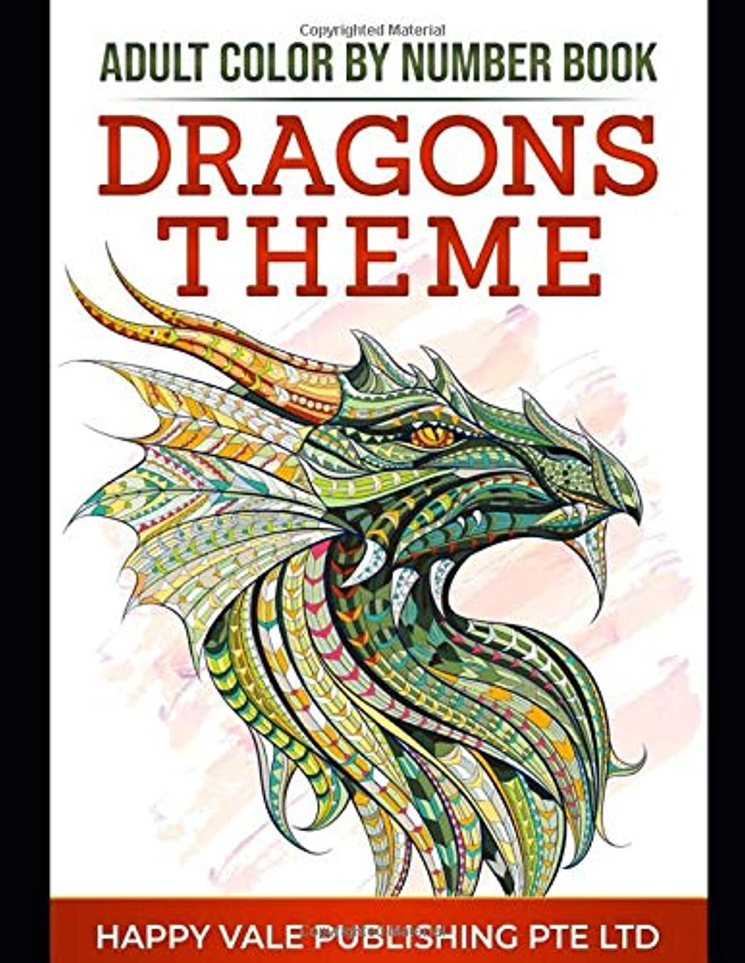狂った斧ペリスコープAdult Color  By Number Book: Dragons Theme