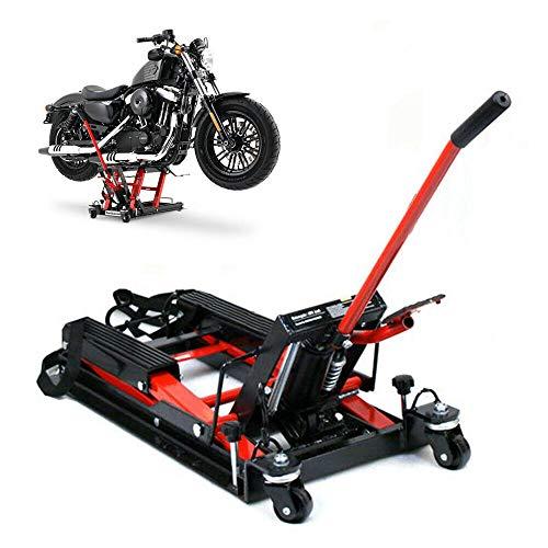 DIFU Elevador de motocicleta de 680 kg, plataforma elevadora de tijeras, elevador hidráulico robusto, duradero con protección