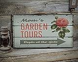 free brand Cartel de jardín Tours, decoración de jardín, decoración de jardín, decoración de flores, decoración de cabaña de madera, decoración de madera