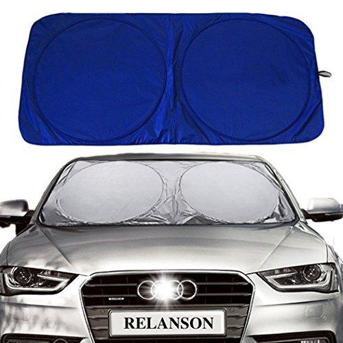 RELANSON 紫外線対策 車用遮光サンシェード フロントガラス 日よけサンシェード 遮光フロントシェード 全窓カバー 簡単取付け(135*60CM)
