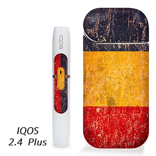 アイコス用 スキンシール ( 2.4Plus 用 ) ルーマニア 国旗 (アンティーク) シール ステッカー iQOS用,