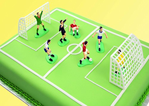 Wilton Kit Calcio 2 Porte e 5 Giocatori Per Decorare La Torta