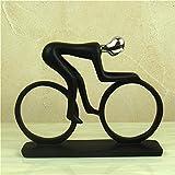 Estatua Sculpture Figurine Deportista Abstracto Figurine Resin Atleta Figura (Ciclista) Miniatura Figurilla Deportiva Ilustraciones para Salón Mesa Accesorios De Navidad Adornos